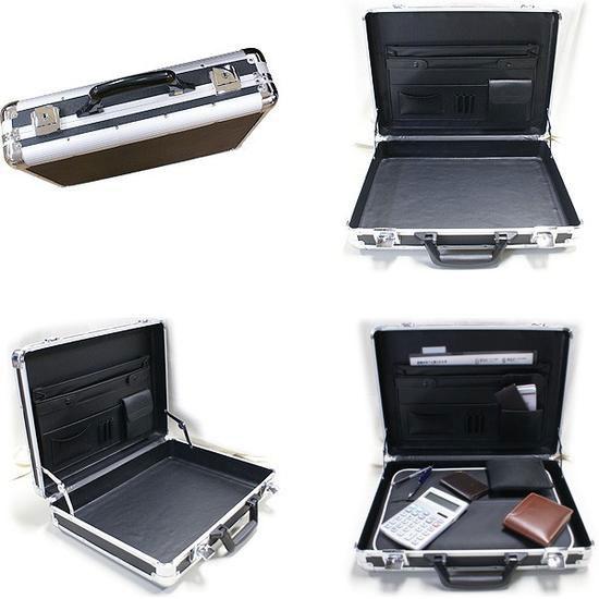 軽量アタッシュケース ビジネスバッグ A3収納 ブリーフケース 銀 アルミ製パソコン用カバン - エイムキューブ画像3