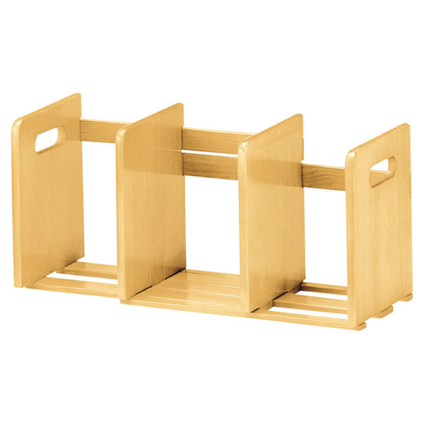 天然木製 スライド本立て ブックスタンド マガジンラック 幅33.5〜62cm調整可 - エイムキューブ画像3