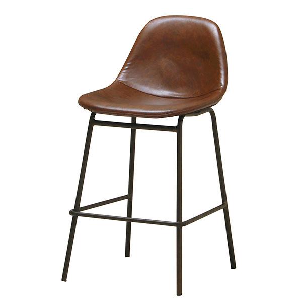 リビング 椅子 子供部屋 食卓 チェア シェル型デザイン 食卓用イス 食卓椅子 ブラウン - aimcube画像2