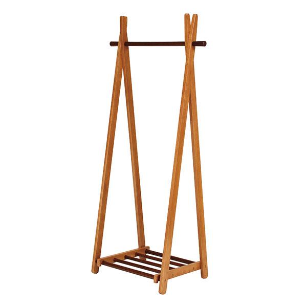 北欧風 折り畳み 衣類ハンガー リビングハンガー 収納 小物棚付き - aimcube画像2