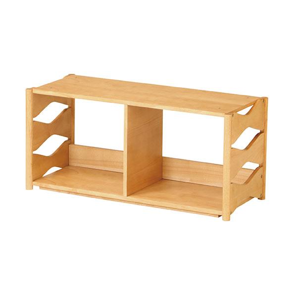 子供用 本立て ディスプレイラック ウッドラック 天然木製 収納家具 子供部屋 - aimcube画像2