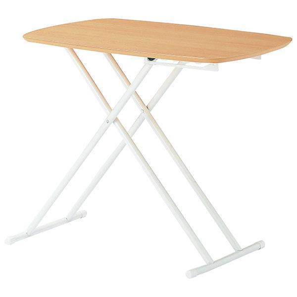 リフトアップテーブル 幅75cm 折りたたみテーブル 簡易机 5段階リフトアップ 簡易テーブル - エイムキューブ画像3