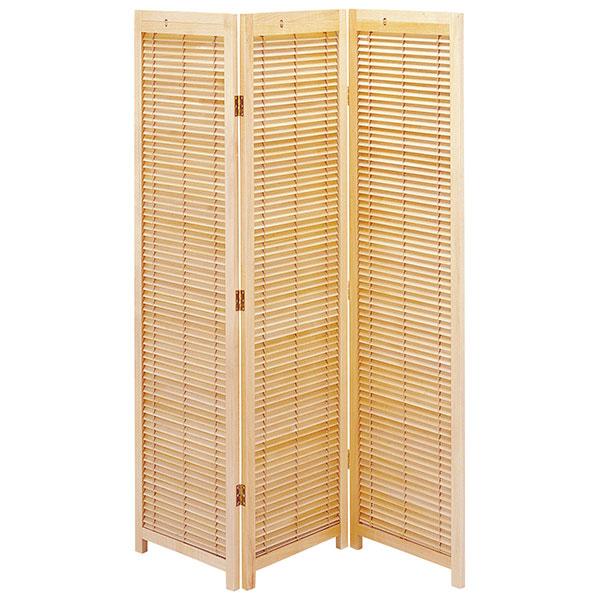 パーテーション 3連 ついたて 間仕切り 木製衝立 天然木 リビング キッチン 玄関 - エイムキューブ画像3