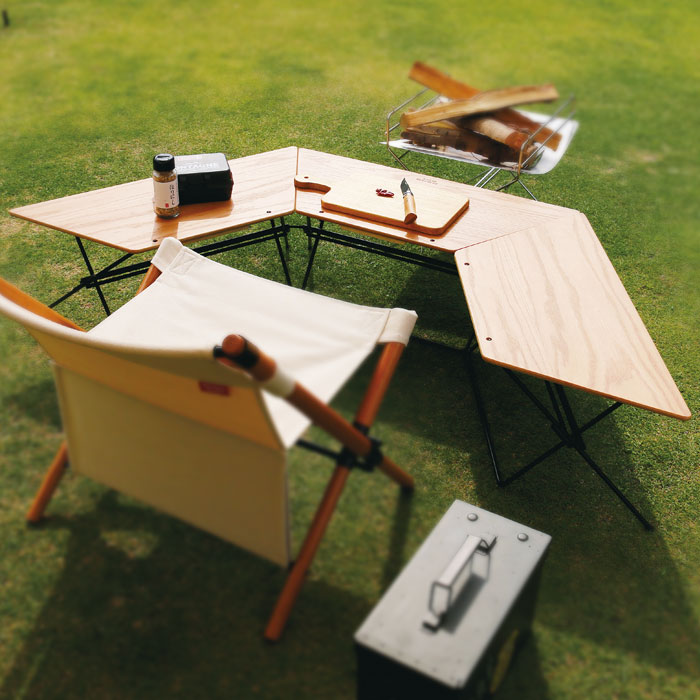 ローテーブル 机 サイドテーブル キャンプ レイアウト自在 - aimcube画像2