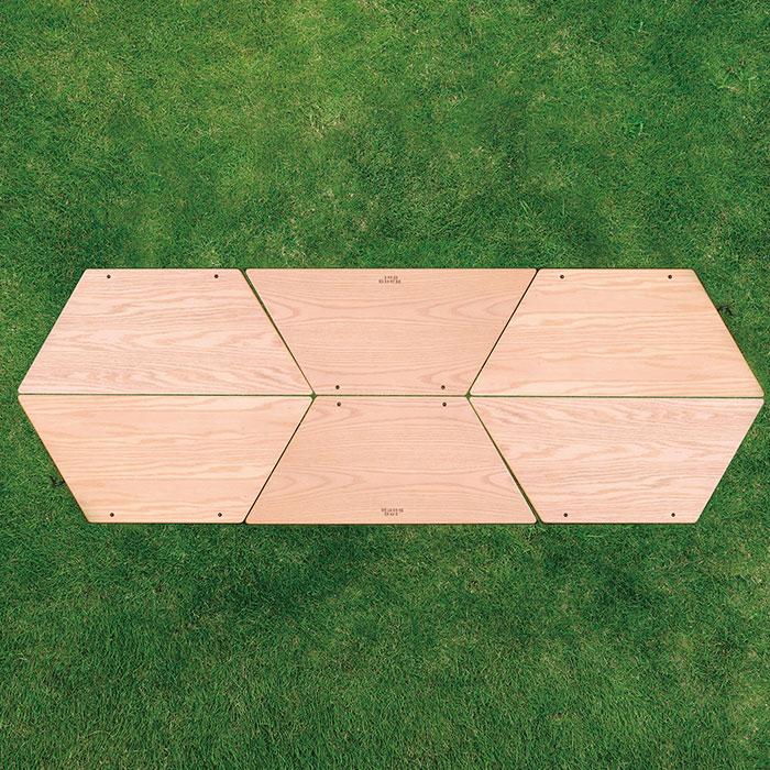 アウトドアテーブル アーチテーブル 折りたたみ 高さ27cm - エイムキューブ画像5