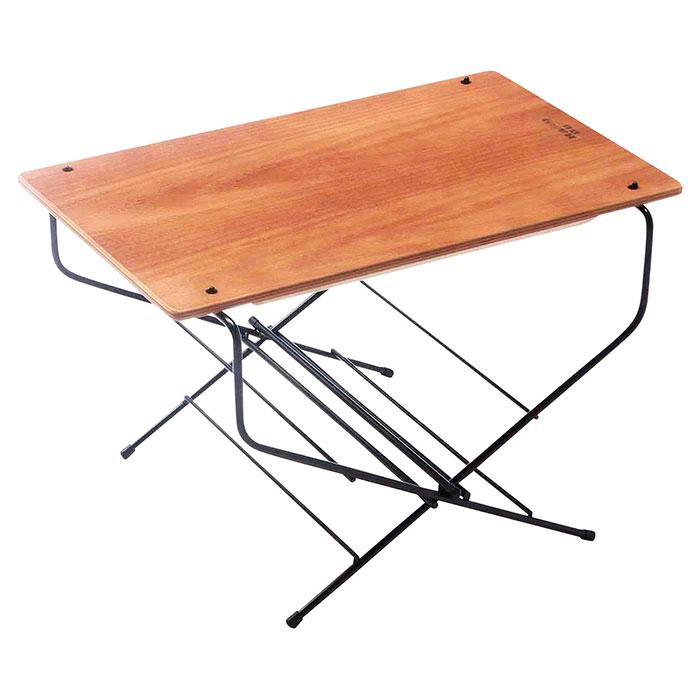 ローテーブル 机 ファイヤーテーブル キャンプ 木製天板 - aimcube画像2