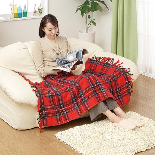 ひざ掛け 冷え性対策 オフィス用ひざかけ 室温センサー付 丸洗いOK 簡易毛布 防寒グッズ - aimcube画像2