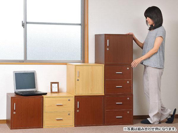 鍵付 キューブボックス 押し入れ収納 クローゼット 収納 - エイムキューブ画像1