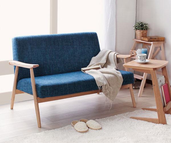 ソファ2人掛 アームチェア ルームチェア 天然木フレーム ラウンジソファ リビングチェア 椅子 - aimcube画像2