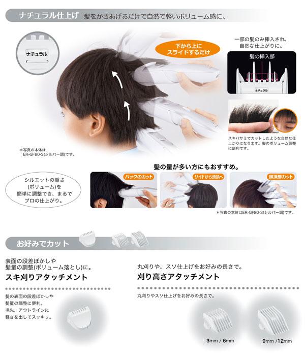 Panasonic 電動バリカン 散髪用 4段階調節 ショートヘア用 耳まわりを誰でも簡単にカット - エイムキューブ画像3