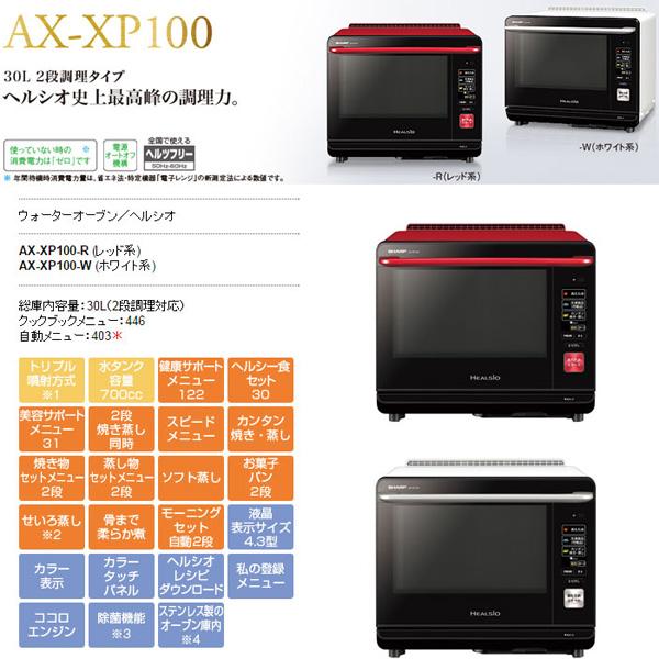ヘルシオ シャープ SHARP ヘルシオ HEALSIO AX-XP100 - エイムキューブ画像1
