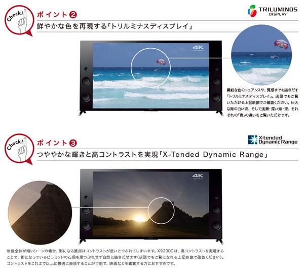 ハイレゾ対応 液晶テレビ 55型 KJ-55X9300C 高画質 高音質 - aimcube画像8