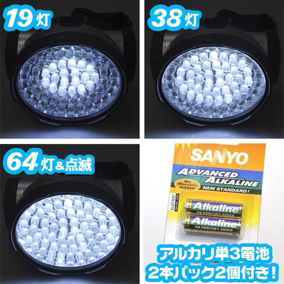 キャンプ用品LEDライト 防災ライト 単三アルカリ乾電池4本付 防災グッズ 懐中電灯代わり - aimcube画像2