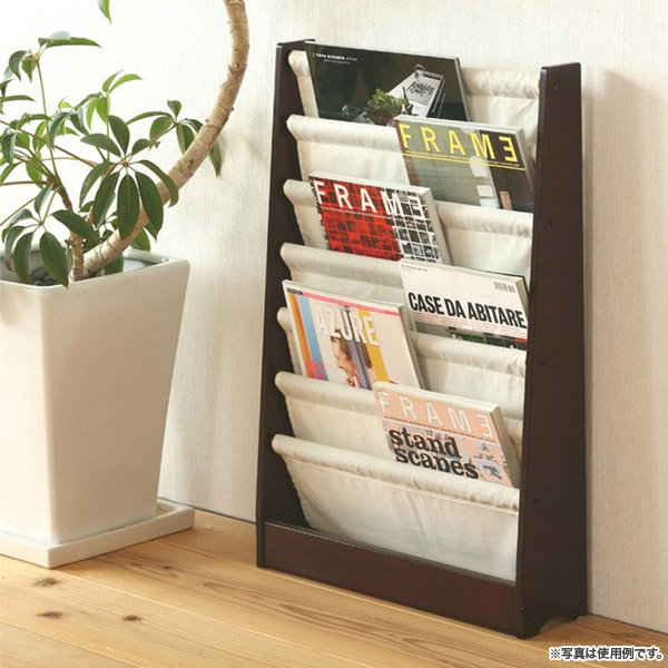 マガジンスタンドラック 52cm幅 ナチュラル 雑誌スタンド 本棚 A4サイズ収納 - aimcube画像2
