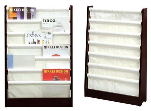マガジンスタンドラック 52cm幅 ナチュラル 雑誌スタンド 本棚 A4サイズ収納 - aimcube画像4