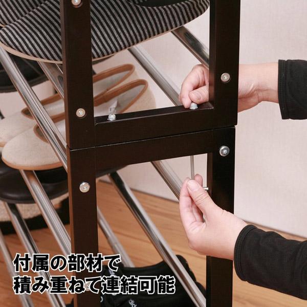 シューズラック3段 靴収納 靴棚 スタッキング可能 - エイムキューブ画像3