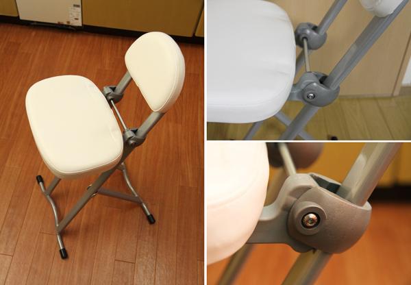 キッチンチェア 高さ調整チェア 折りたたみ椅子 - aimcube画像3