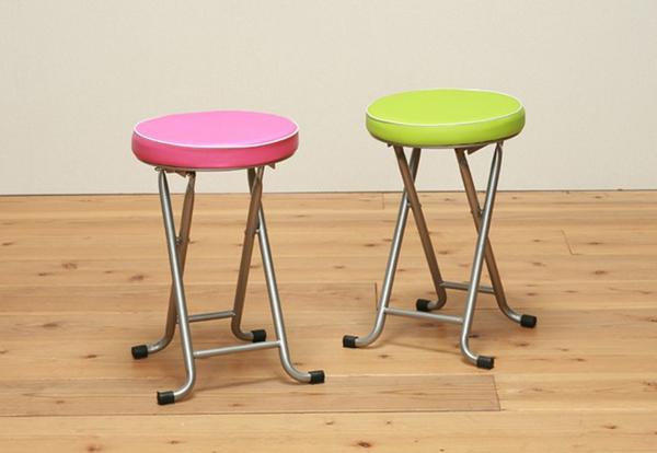 キッチンチェア 桃色 ピンク 簡易スツール 台所チェア 台所スツール - aimcube画像2