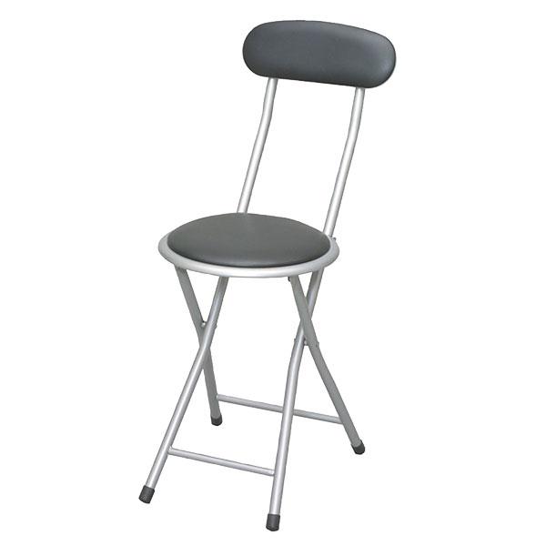 簡易チェア 折り畳み椅子 パイプ椅子☆脚部キャップ付 折りたたみ補助椅子 作業いす - aimcube画像2