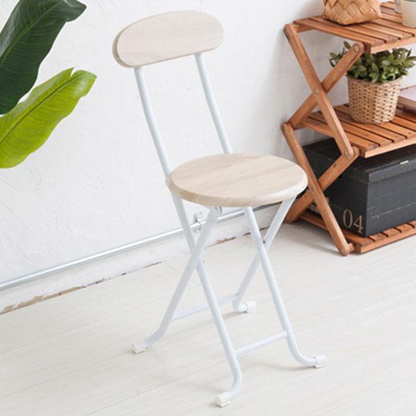 折り畳みイス 北欧風 キッチン用パイプ椅子 背もたれ付 折り畳みチェア パイプイス - aimcube画像2