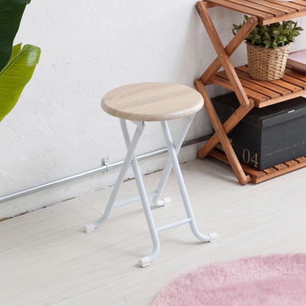 折り畳みイス 北欧風 キッチン用パイプ椅子 脚部キャップ付 折り畳みチェア パイプイス - aimcube画像2