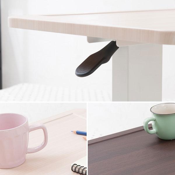 ガス圧昇降テーブル 簡易デスク 介護用テーブル 補助テーブル 高さ無段階調節 伸張テーブル - aimcube画像3