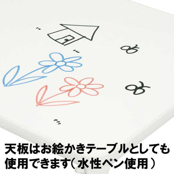 ペイントテーブル 幅60cm キッズテーブル 折り畳み ローテーブル 完成品 パステルカラー - aimcube画像3