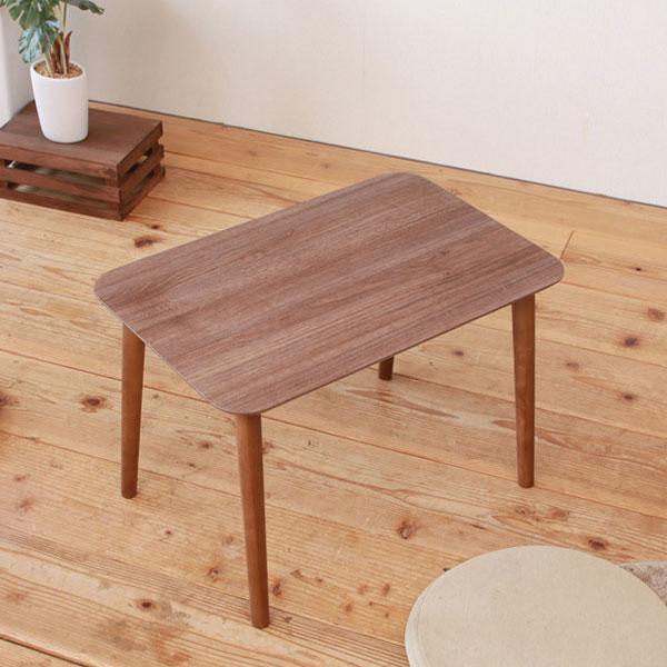 コーヒーテーブル 机 北欧風 トールテーブル 鏡面木目天板 ミニテーブル 天脚裏フェルト付 - エイムキューブ画像2