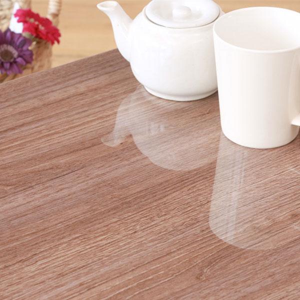 コーヒーテーブル 机 北欧風 トールテーブル 鏡面木目天板 ミニテーブル 天脚裏フェルト付 - エイムキューブ画像4