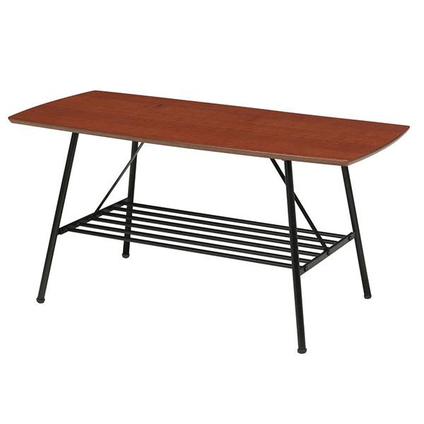 センターテーブル 棚付 幅85cm テーブル 食卓 座卓 ローテーブル ラック付き 雑誌置き - エイムキューブ画像3