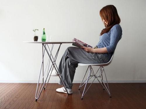 丸型テーブル コーヒーテーブル クロムメッキ仕上げ カフェテーブル センターテーブル - aimcube画像2