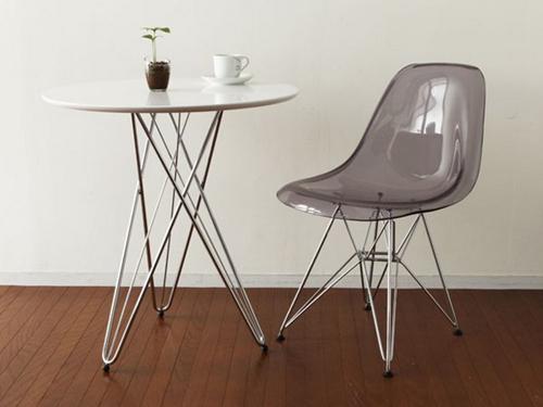 ラウンドテーブル ワイヤーレッグ リビングテーブル サイドテーブル ディスプレイ用 - エイムキューブ画像1