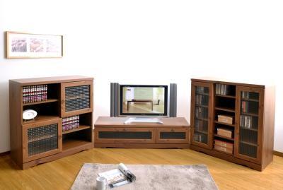 アンティーク調キャビネット 88cm幅 本棚 書棚 食器棚 コミックラック マンガ収納棚 - エイムキューブ画像1
