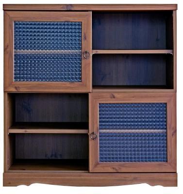 アンティーク調キャビネット 88cm幅 本棚 書棚 食器棚 コミックラック マンガ収納棚 - エイムキューブ画像3