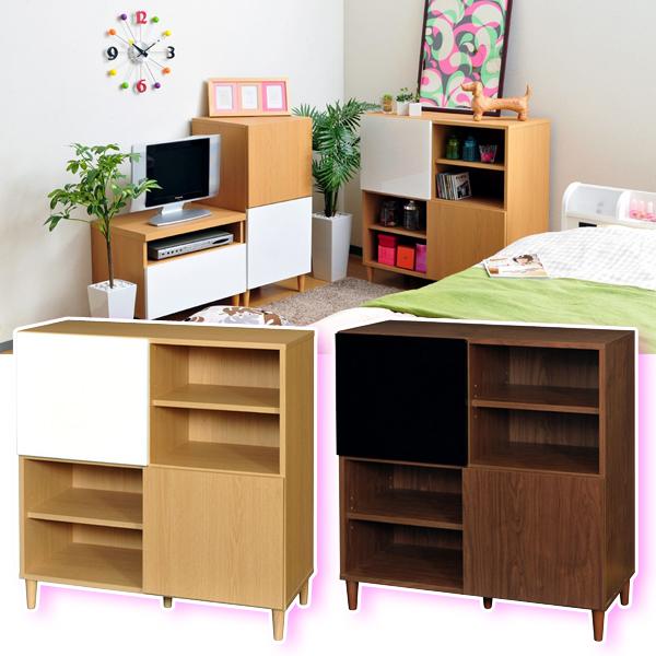 収納 ラック 飾り棚 本棚 書棚 リビング収納 ディスプレイラック 高さ90cm 収納 - aimcube画像2