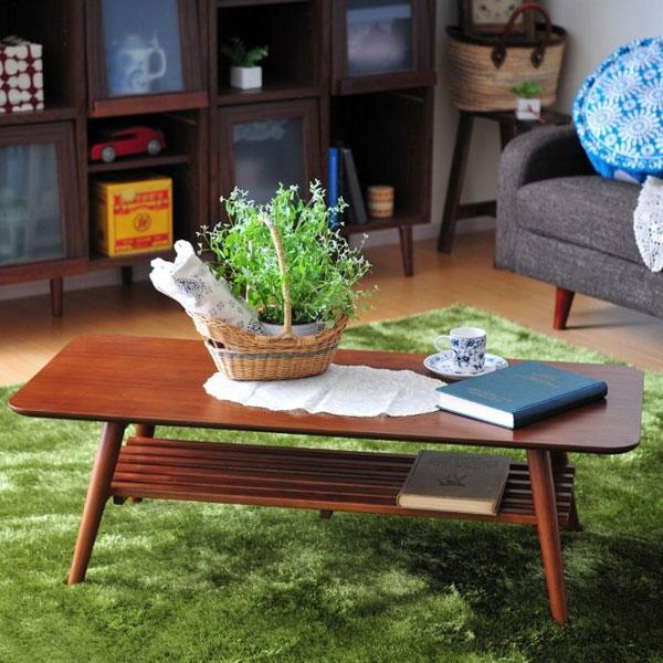 ローテーブル リビングテーブル 座卓 天然木製 折りたたみ式 コーヒーテーブル - aimcube画像2