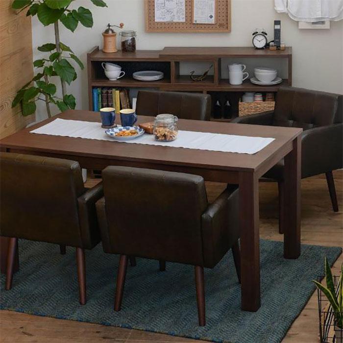 食卓テーブル 幅140cm ダイニングチェア 四人用 5点セット - aimcube画像2