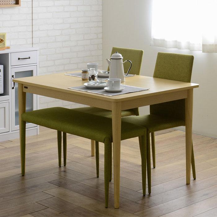 食卓テーブル 幅120cm ダイニングチェア ベンチ 4点セット - aimcube画像2