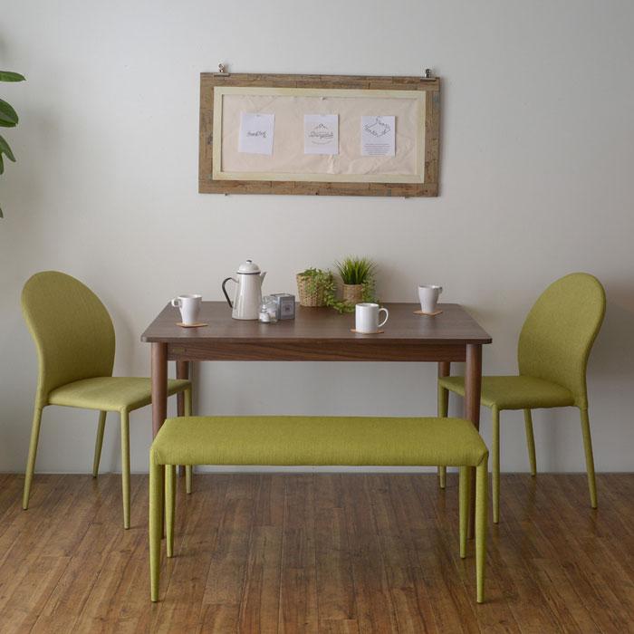 天然木 ダイニングセット 4人用 ダイニングテーブル 椅子2脚 - エイムキューブ画像3