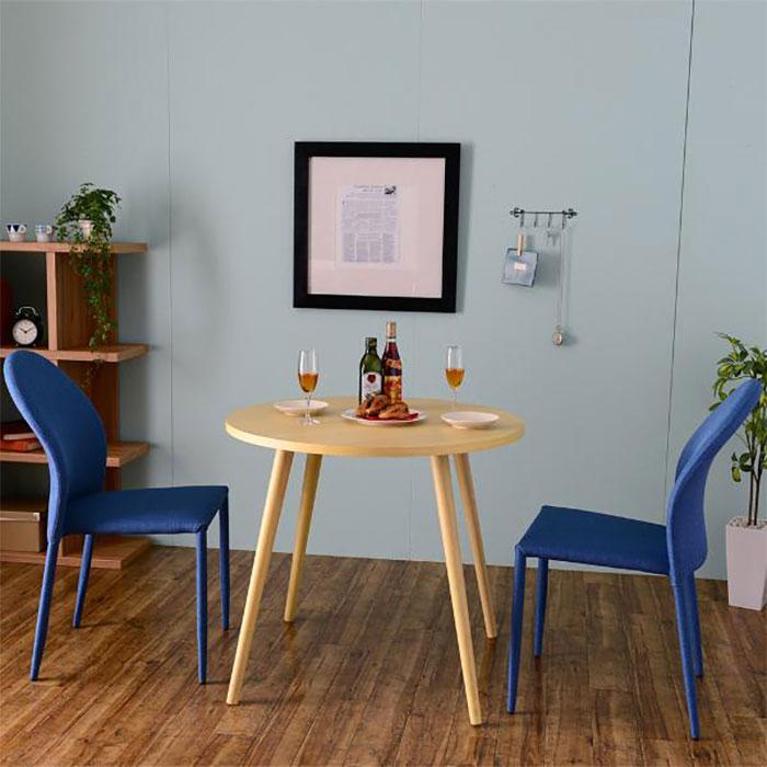 天然木 ダイニングセット 2人用 ダイニングテーブル 椅子2脚 - エイムキューブ画像3