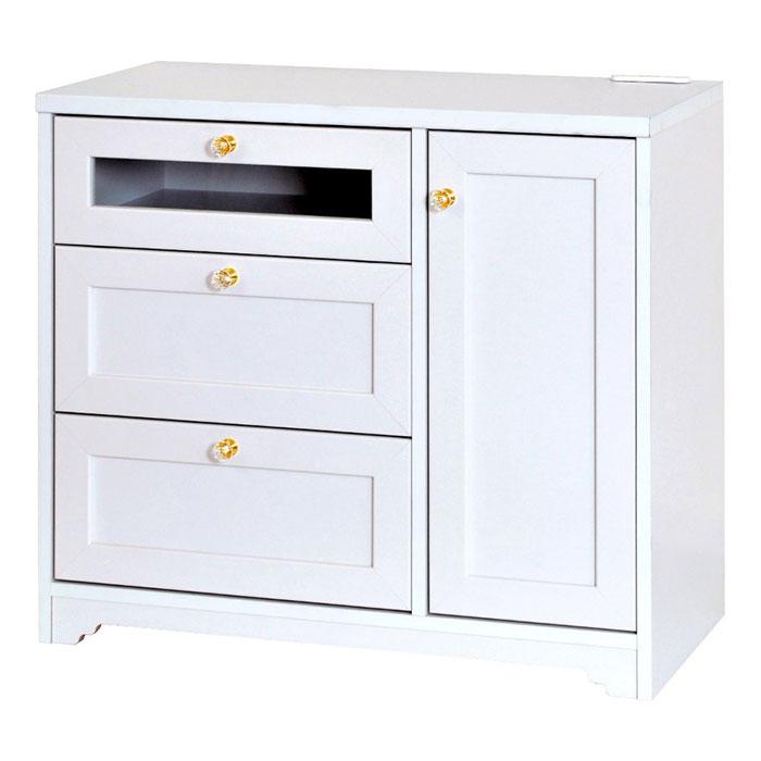 扉付 食器棚 扉 キッチン 収納 棚 可動棚2枚 可動棚付 - aimcube画像2