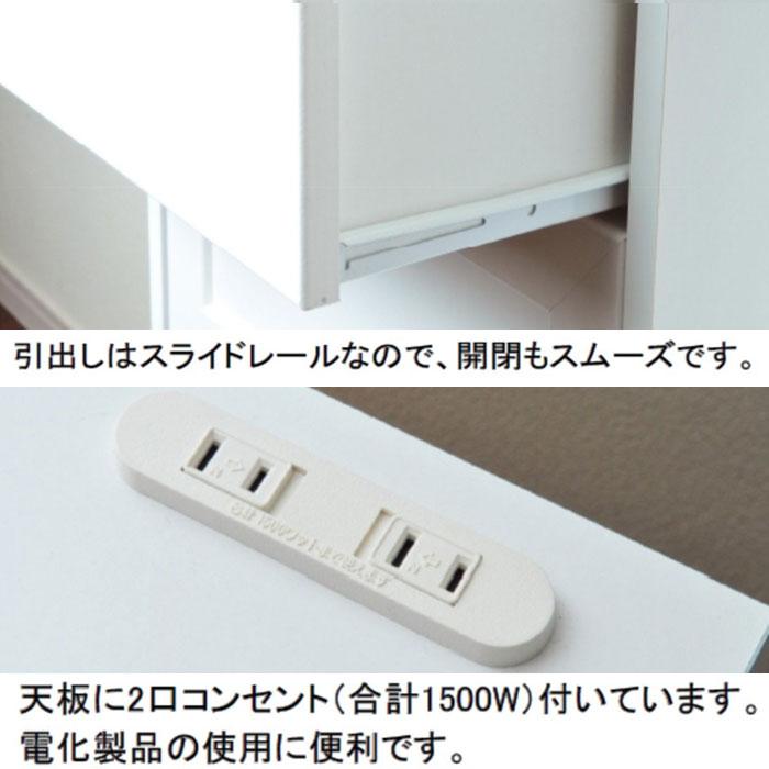 ナイトテーブル マガジンラック コーナーラック 2口コンセント付 - aimcube画像4