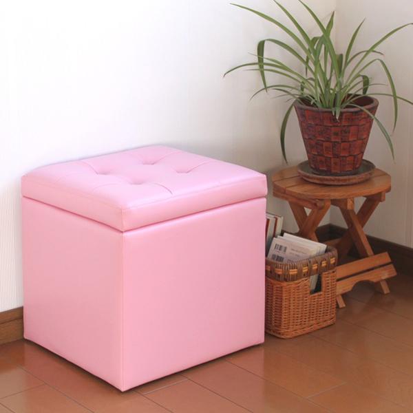収納スツール 1P オットマン 玄関 椅子 PVC仕様 エントランス スツール - aimcube画像4
