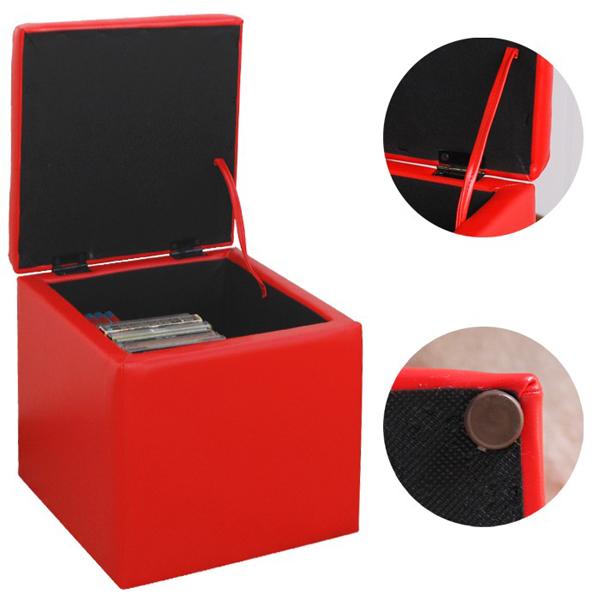 キューブスツール 収納付 1人用 椅子 玄関チェア 完成品 一人用チェア リビングスツール  - エイムキューブ画像5