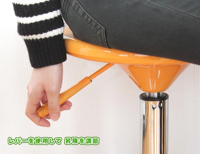 シンプル スツール ガス圧昇降 椅子 背もたれなし 丸椅子 ラウンドチェア - エイムキューブ画像3