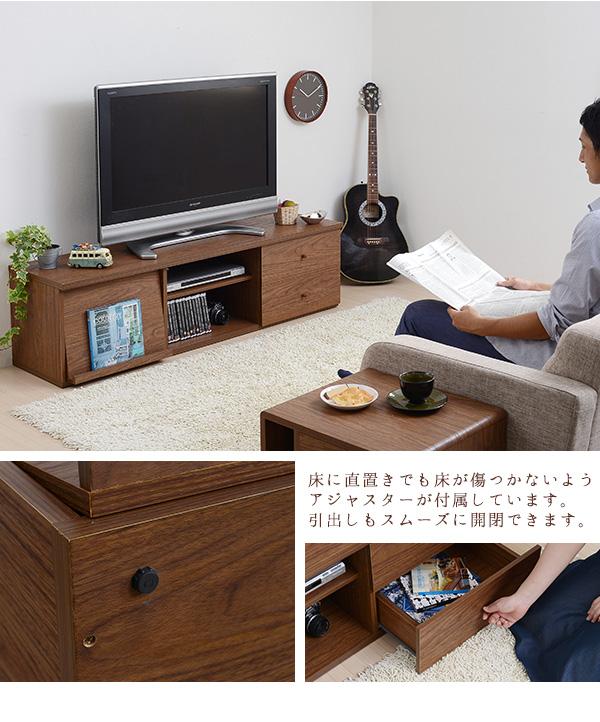 オープンラック リモコン 収納 フラップ扉収納 AVラック DVD 収納 ブルーレイ - aimcube画像4