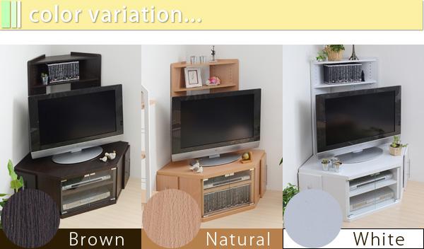 コーナーテレビ台 ラック DVD 収納 スライド収納付 コーナータイプ テレビ上ラック - aimcube画像6