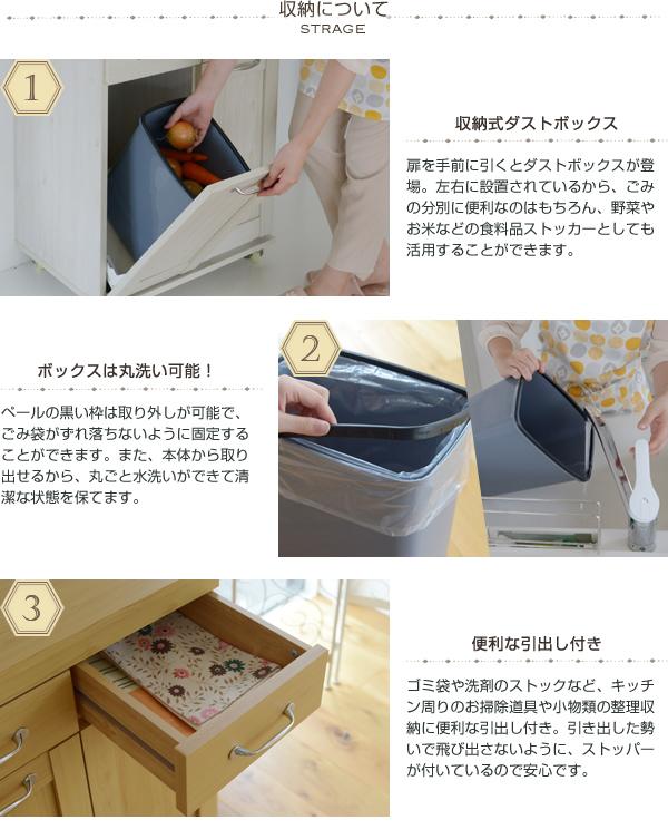 2分別 ゴミ箱 ペール付 おしゃれ ダストボックス ごみ箱 ゴミ入れ 台所 くずかご - エイムキューブ画像3