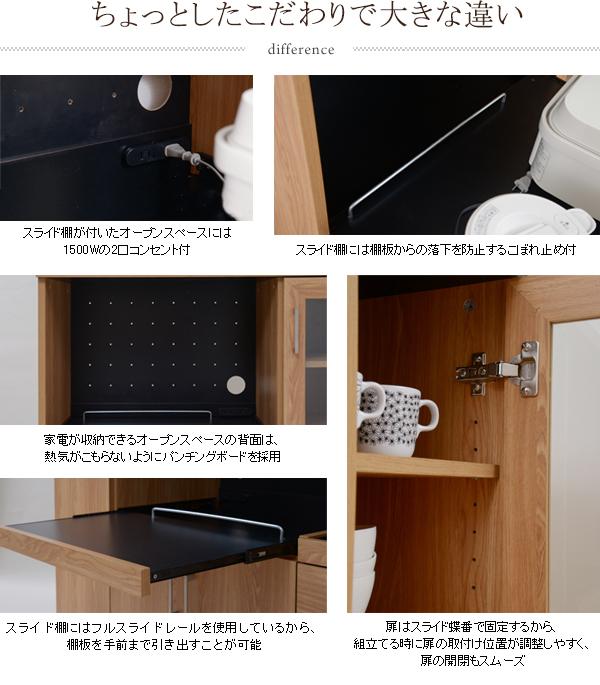 キッチン家電 調理器具 電気ケトル 収納 作業台 スライドテーブル付 台所 カウンター収納 キャスター付 - aimcube画像4