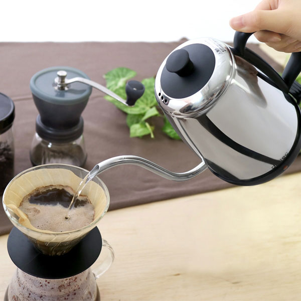 電気ケトル 1.0L 電気ポット 湯沸かし器  湯沸しポット ステンレス ドリップコーヒー向け ケトル - エイムキューブ画像3